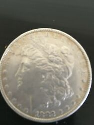 1882 P Morgan Silver Dollar Lightly Circulated Great Detail Toned Photos 4