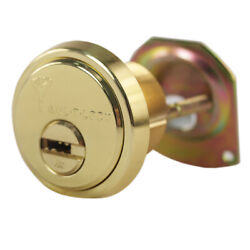 Mul-t-lock Junior Polished Brass Rim/mortise Cylinder With 2 Keys And Card