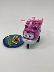 Super Wings Pink Dizzy Toy Figure Helicopter Vroom Nand039 Zoom New