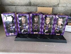5 2005 Carl's Jr Lakers Bobbleheads Kobe Bryant And Signed Caron Butler Read