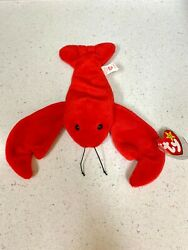 Ty Retired Pinchers Beanie Baby Tag Error Pvc Pellets June 19, 1993 +tag Cover