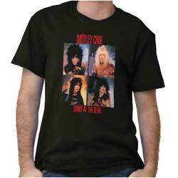 Licensed Motley Crue Shout At The Devil 80s Adult Short Sleeve Crewneck Tee