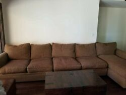 Crate And Barrel Lounge 3 Piece Sectional Sofa Lightly Used Pristine Condition