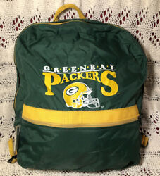 Vtg 1990's Green Bay Packers Small Backpack By Team Nfl And Athletic Bag Company