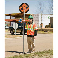 Stop Slow Sign with PVC Staff