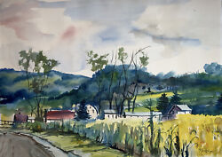 Watercolor Painting By Robert Fifield. Rochester Mn Artist.