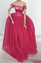 Pink Evening Dress Outfit Gown Fits Silkstone Barbie Fashion Royalty Model Doll $14.99