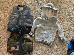 Winter Lot Of Boys Sweaters Vests Warm Size 18 Months Cat And Jack Oshkosh