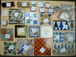 Vintage And Antique Collectible Decorative Ceramic Art Tiles And Tile Shards