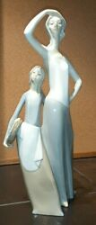 Very Rare Nao By Lladro Spanish Porcelain Figurine Looking At The Horizon.