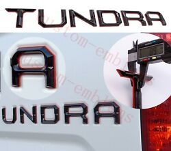 Double Layer Tailgate Insert Letters Fits 2014-2021 Toyota Tundra Black Red