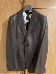Tom Ford Sartorial Leather Jacket 42 New Andpound4700