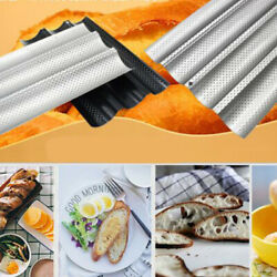 1Pc Kitchen Perforated Non Stick Baking Tray Mold French Baguette Bread Pan $14.24