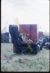 Clyde Beatty Circus Truck Bed Trailer Tent 1960s 35mm Slide Vtg College Park Md
