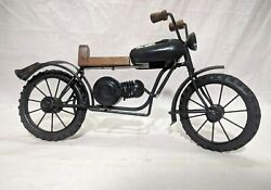 Vintage Motorcycle Iron Bike Model Antique Look Handmade Home Ofiice Decor