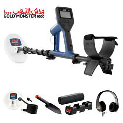 Minelab Gold Monster 1000 Universal Metal Detector W 2 Search Coils, Waterproof