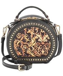 INC Rilie Circle Black Crossbody Top Handle Handbag $29.21