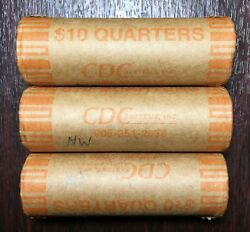3 Rolls Minnesota 2005 P Uncirculated State Quarter Rolls. Unsearched