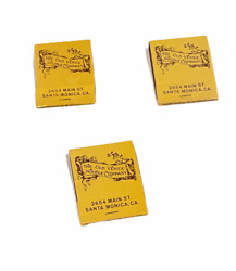 Lot Of 3 Vintage The Old Venice Noodle Company Matchbooks - New Old Stock