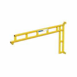 New 100 Lb-12and039 Span-steel-wall Mounted Jib Crane-cantilever Design W/trolly