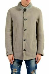 Brunello Cucinelli Menand039s 100 Smooth-fur Sueded Shearling Jacket Size M L Xl