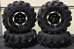 Yamaha Grizzly 700 25 Executioner Atv Tire And Viper Blk Wheel Kit Irs1ca