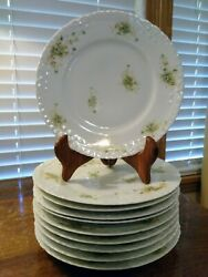 Ten Theodore Haviland Limoges Schleiger 1021a Blank 124 Luncheon Plates As Is