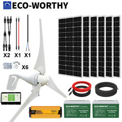 1400w 1000w 600w Hybrid Power Generator Kit Wind And Solar Panel Kit For Home