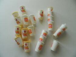 Huge 21 Pc Lot Vintage Mcdonaldand039s And Burger King Plastic Cup Charms Super Cool