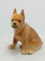 Vintage Collectable Figurine - Pitbull / Bulldog - Made In Japan 3.5 Tall