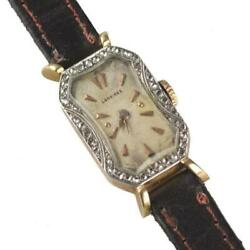 Antique Ladies Longines Manual Wind 18k Gold And Diamond Cocktail Watch Ca1916