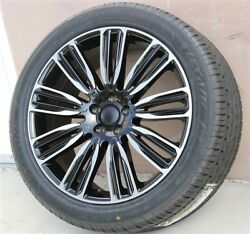 4new 22 Wheel And Tire Package Gloss Black 22x9.5 Range Rover Hse Turbo Sport