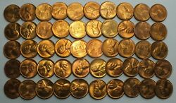 1946-s 1c Cent Lincoln Wheat Full Roll 50 Coins Penny Lot Set Uncirculated Lg267