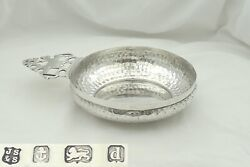 Rare Edwardian Arts And Craft Hm Sterling Silver Wine Taster Bowl 1903