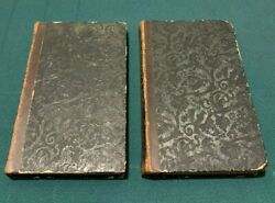 2 Vtg Antique Rare 1837 Pilgrimage To Jerusalem And The Mountain Of Sinai Book Lot