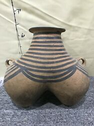 Chinese Neolithic Majiayao Culture Colour Pottery Horse Milk Breast Tank Pot