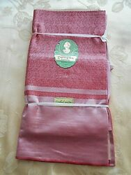 Never Used Dark Rose Rayon And Cotton Damask Tablecloth 58 By 78+ 8 Napkins