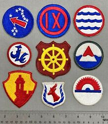 Wwii And Post Base Cmd Patches- Greenland Antilles Jap Log Usarpac Ix Corps..