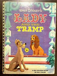 Vintage Golden Book Walt Disneyand039s Lady And The Tramp 1955 Printing