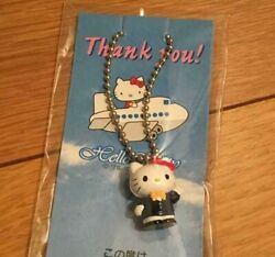 Vintage Hello Kitty Japan Airlines Jal Collab Keychain Mascot