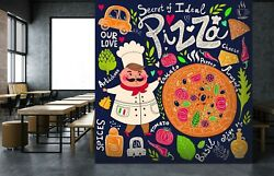 3d Pizza Food Wall I48 Business Wallpaper Wall Mural Self-adhesive Commerce An