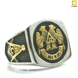 Eagle Freemasons Ring Mens Boys 316l Stainless Steel Cool 32 Party Fashion Rings