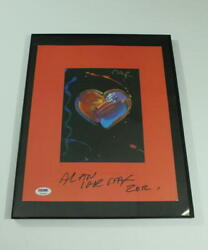 Peter Max Signed Autograph Limited Edition Poster Print - Very Rare Psa