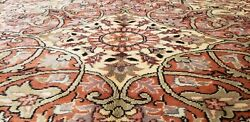 Beautiful Ca1900-1939s Antique Natural Color Wool Pile Hereke Area Rug 6and0399andtimes9and0398