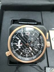 Gv2 By Gevril Xo Submarine Watch 4525 Limited Ed. 135 Rose-gold Black Leather