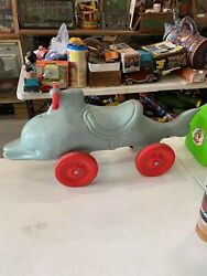 Vintage Rare 1965 Irwin Flipper Tv Show Dolphin Ride-on Toy Pedal Car Gas Oil Co