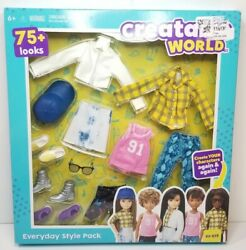 Mattel Creatable World Everyday Style Pack Doll Clothes And Accessories Es-619 New