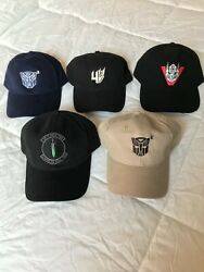 All 5 Transformers Film Crew Hats New Never Worn Out Of Town Ships 6/1/21