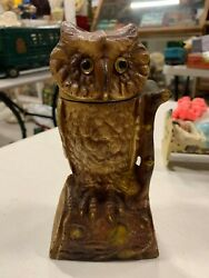 Vintage Owl Mechanical Bank Cast Iron Working Still Bank Toy Wise Old Owl 7
