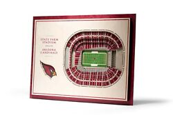 3d Stadium View   Wall Art   Wood   5 Layer   Nfl   Choose Your Team